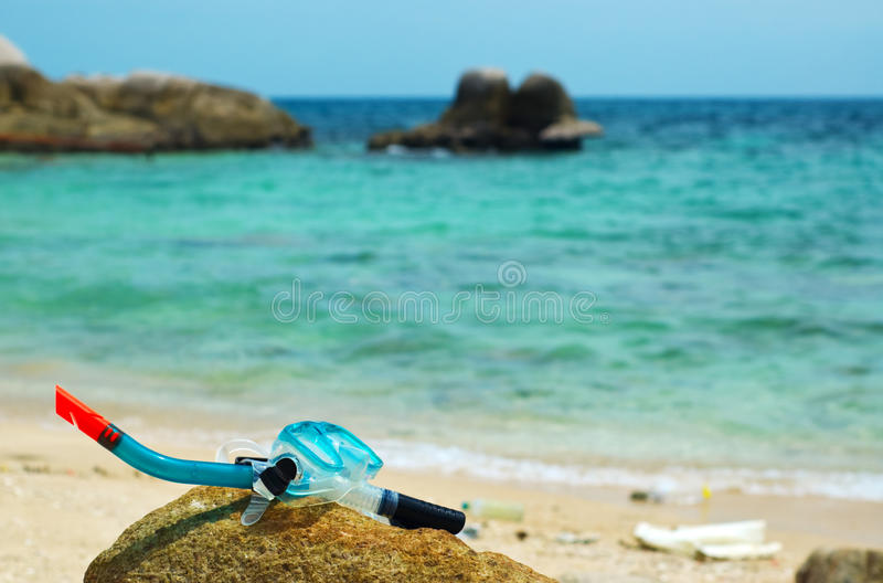 Download Snorkel and mask stock image. Image of edge, diving, tourist - 21059435
