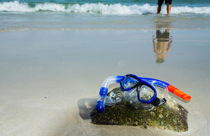 Download Snorkel and mask stock photo. Image of hobbies, beach - 24879524
