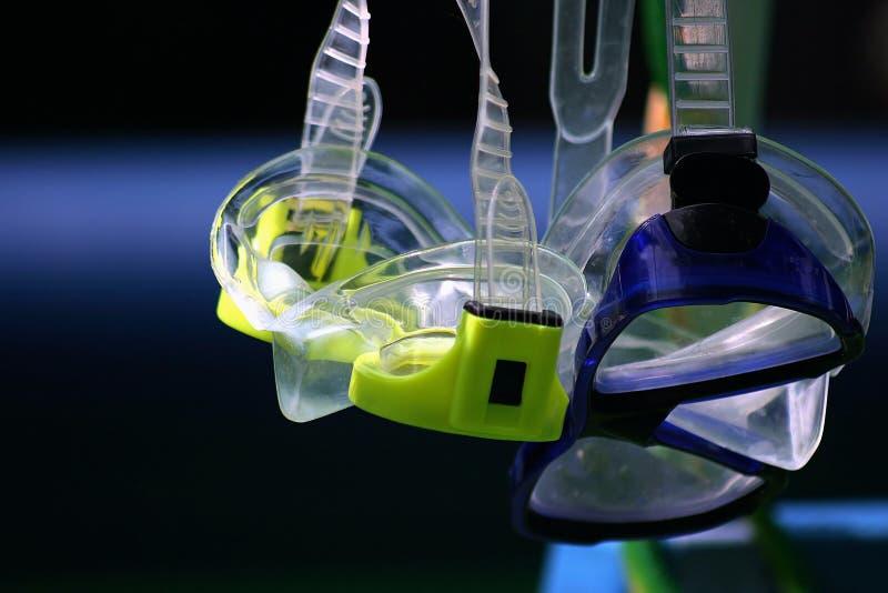 Snorkel-Schutzbrillen stockbild