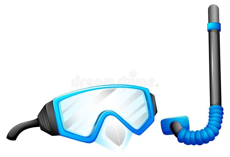 Snorkelende apparaten stock illustratie