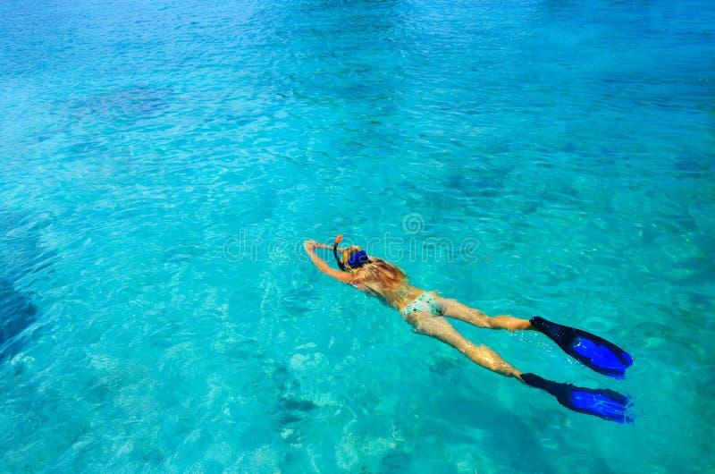 Snorkeler stockfoto