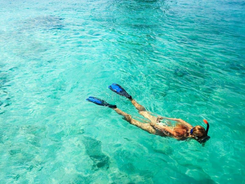 snorkeler 免版税库存图片