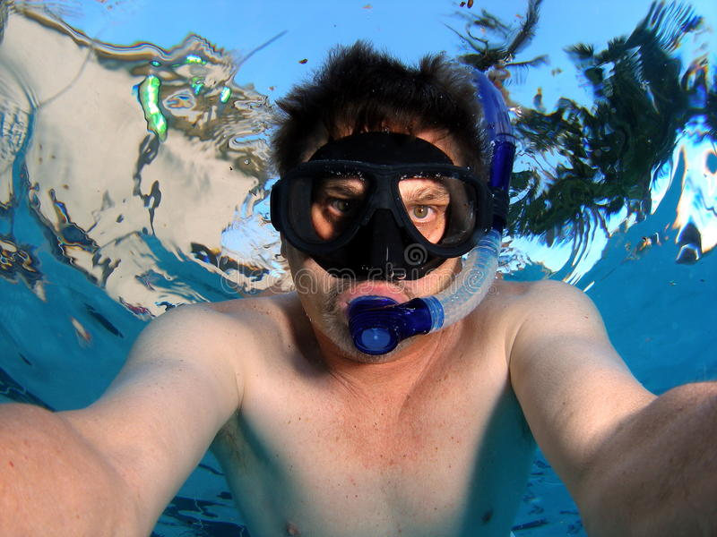 Snorkeler Stock Images