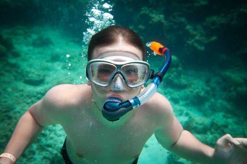 Download Snorkeler stock image. Image of explorer, summer, snorkeling - 23086965
