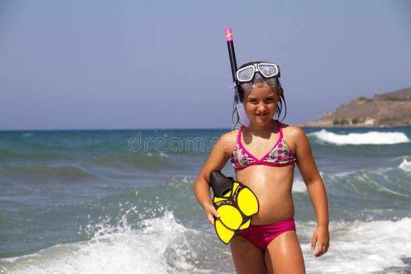 Snorkeler royalty-vrije stock afbeelding