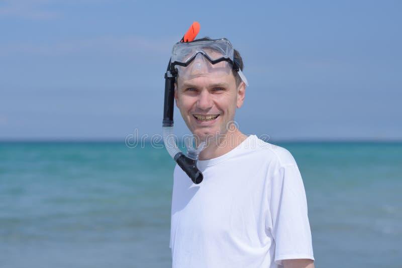 Snorkeler royalty-vrije stock foto's