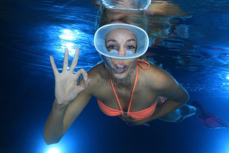 Snorkeler photo stock