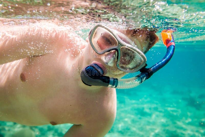 Snorkeler fotografía de archivo