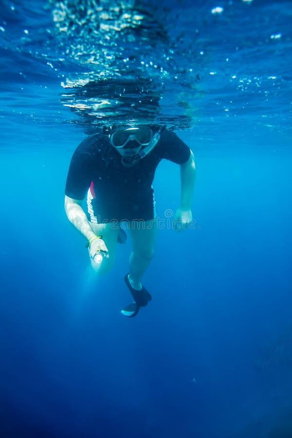 Snorkeler foto de archivo libre de regalías