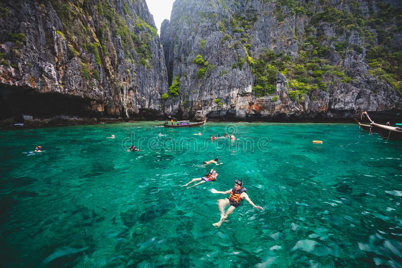 snorkeling fotografia stock
