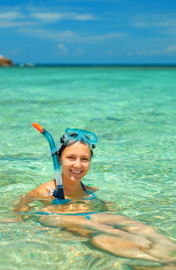 snorkeling arkivbilder