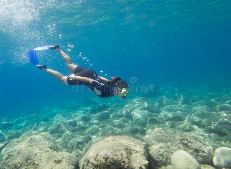 snorkeling fotografie stock libere da diritti
