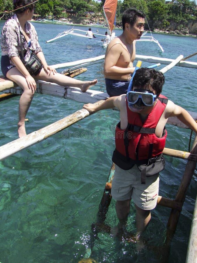 snorkeling stock fotografie