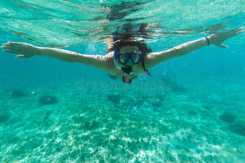 Download Snorkeling In The Caribbean Sea Stock Image - Image: 20494495