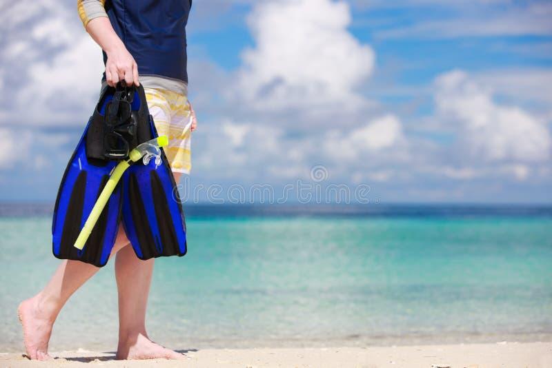 Download Snorkeling equipment stock image. Image of girl, human - 24123783