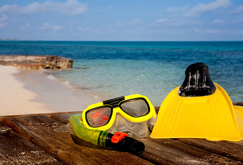 Download Snorkeling Gear On Beach Stock Photos - Image: 7753183