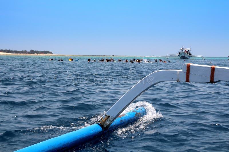 Snorkeling - Gili Meno, Индонезия стоковое фото rf