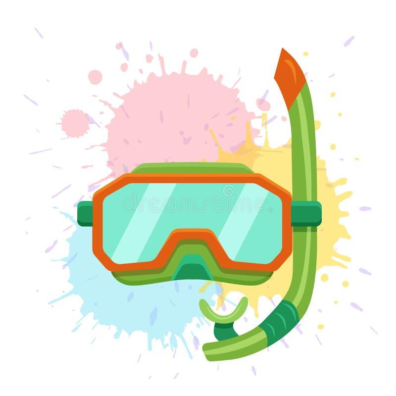 Snorkeling i nurkujący centrum wektorową logo ilustrację royalty ilustracja