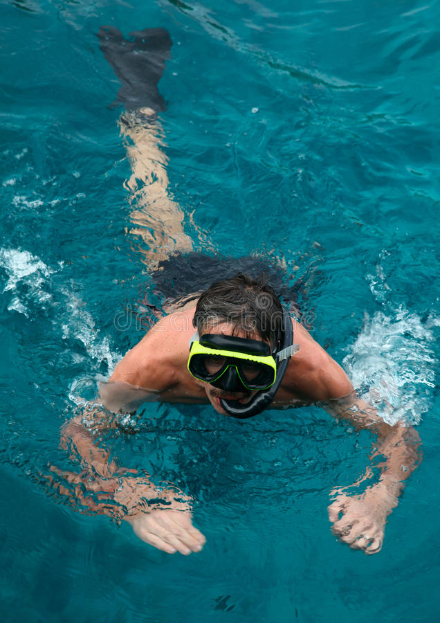 Download Snorkeling man. stock photo. Image of lifestyle, leisure - 23347950