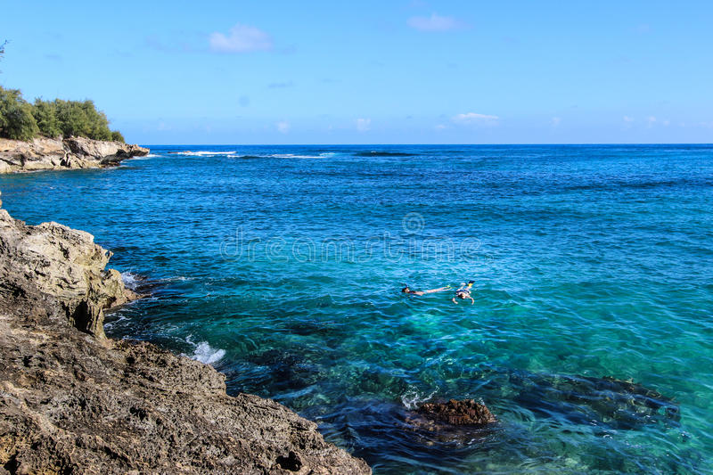 Snorkeling in Paradise royalty free stock photography