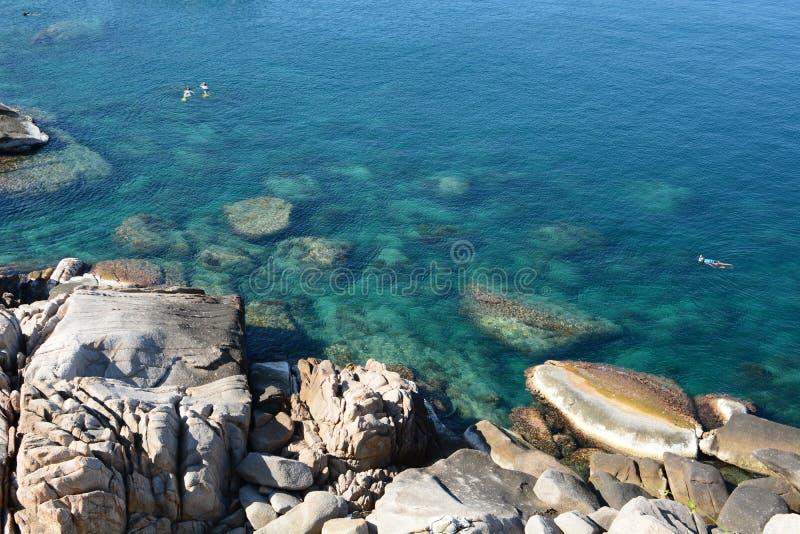 Snorkeling w Hin Ngam zatoce koh Tao Chumphon archipelag Tajlandia zdjęcia royalty free