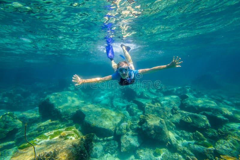 Snorkeling w rafie zdjęcie royalty free