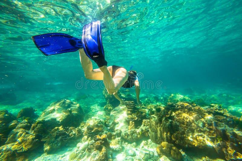 Snorkeling w rafie zdjęcie stock