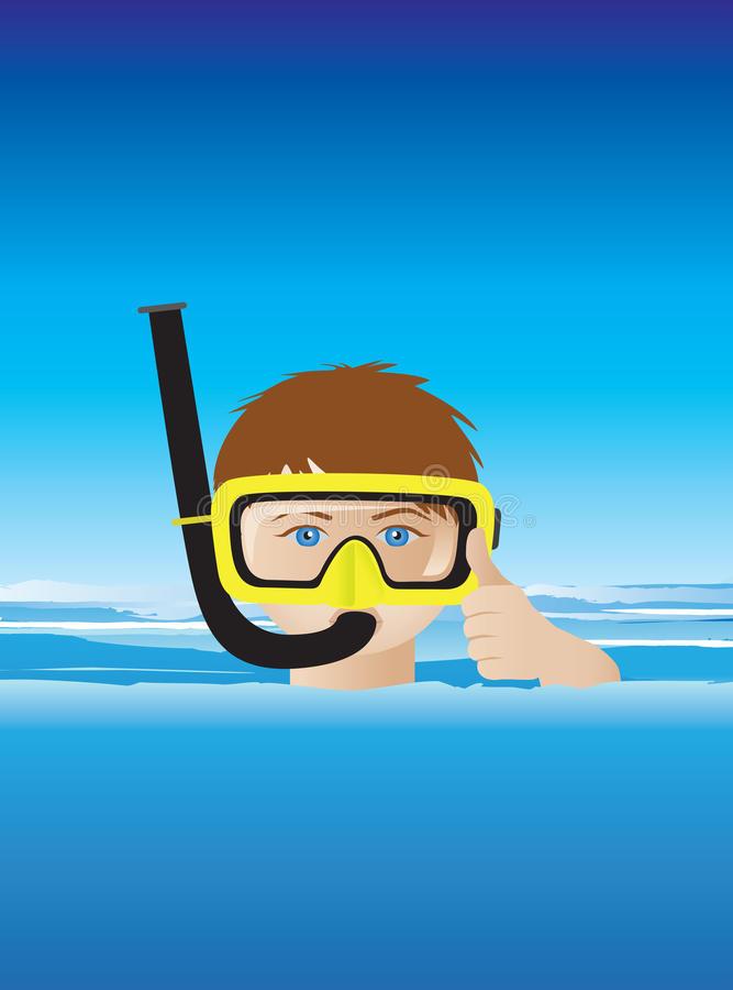 Download Snorkeller stock vector. Image of mask, surface, ocean - 14112754