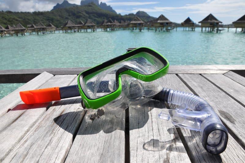 Snorkle e mascherina fotografia stock