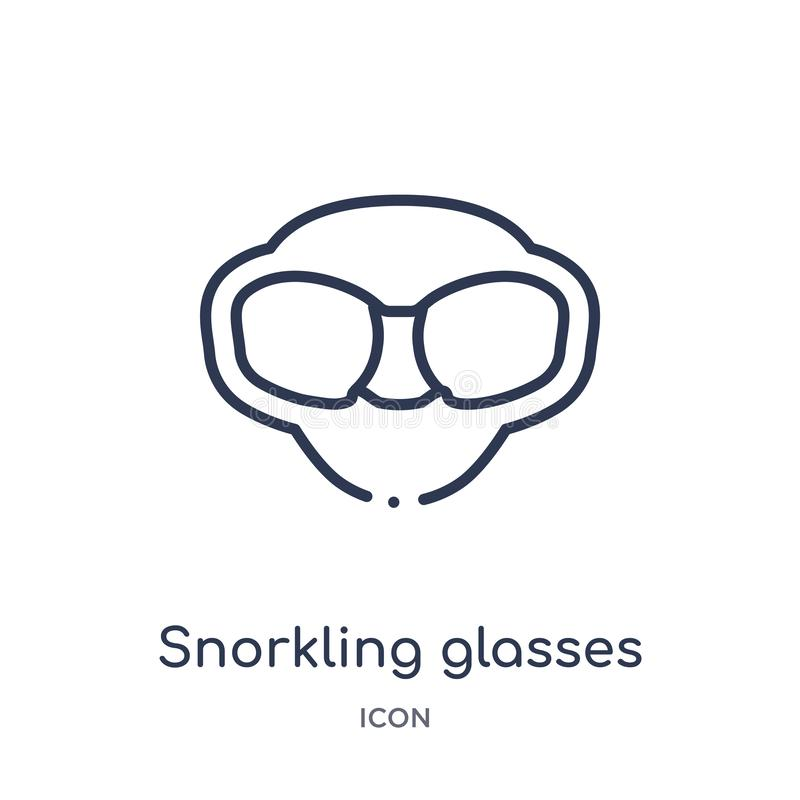 Snorkling glasses icon from nautical outline collection. Thin line snorkling glasses icon isolated on white background vector illustration