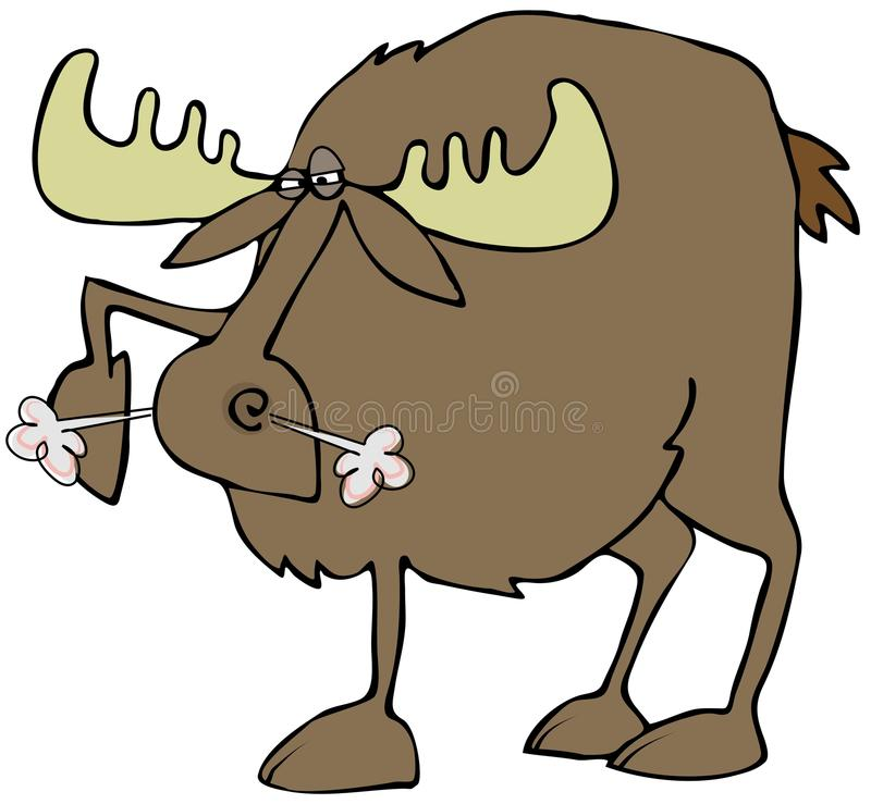 Download Snorting moose stock illustration. Image of angry, moose - 36349622