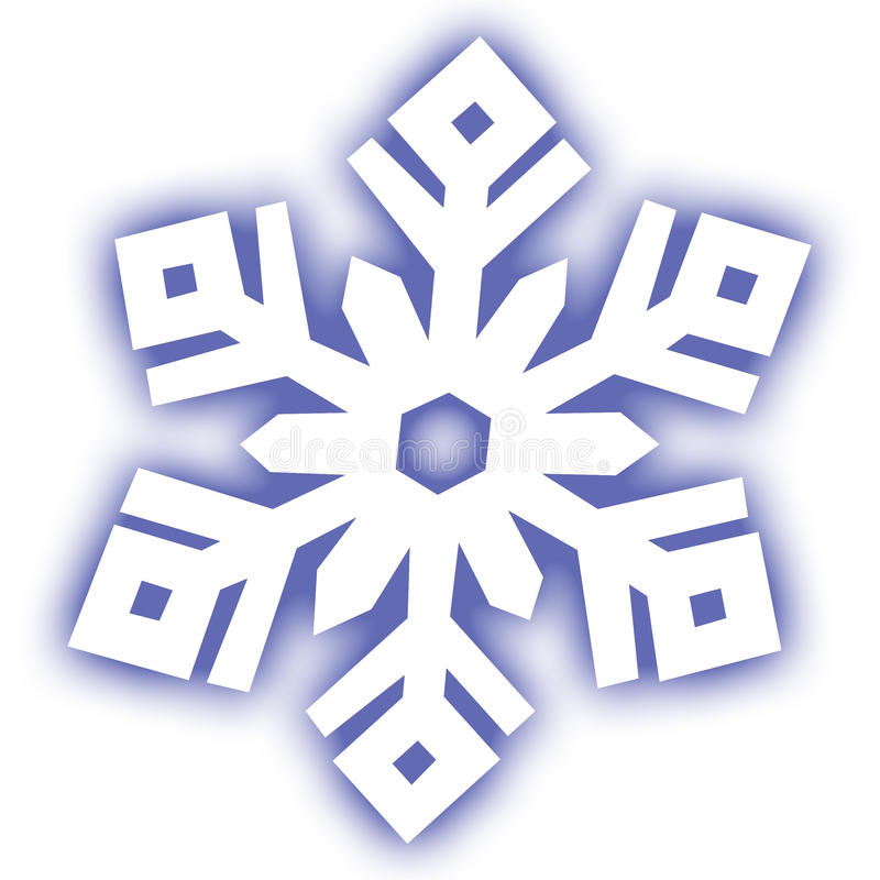 Snow. This is a graphic design icon of a snowflake vector illustration