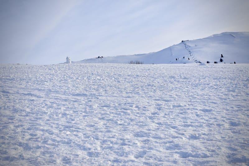 White snow at the bursa city stock images
