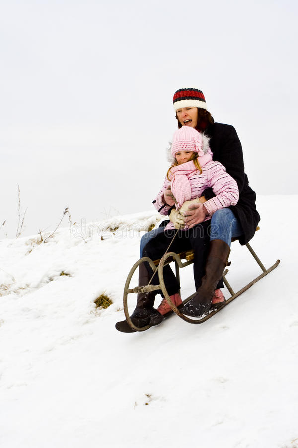 Download On the snow stock photo. Image of cold, holidays, childhood - 27073454