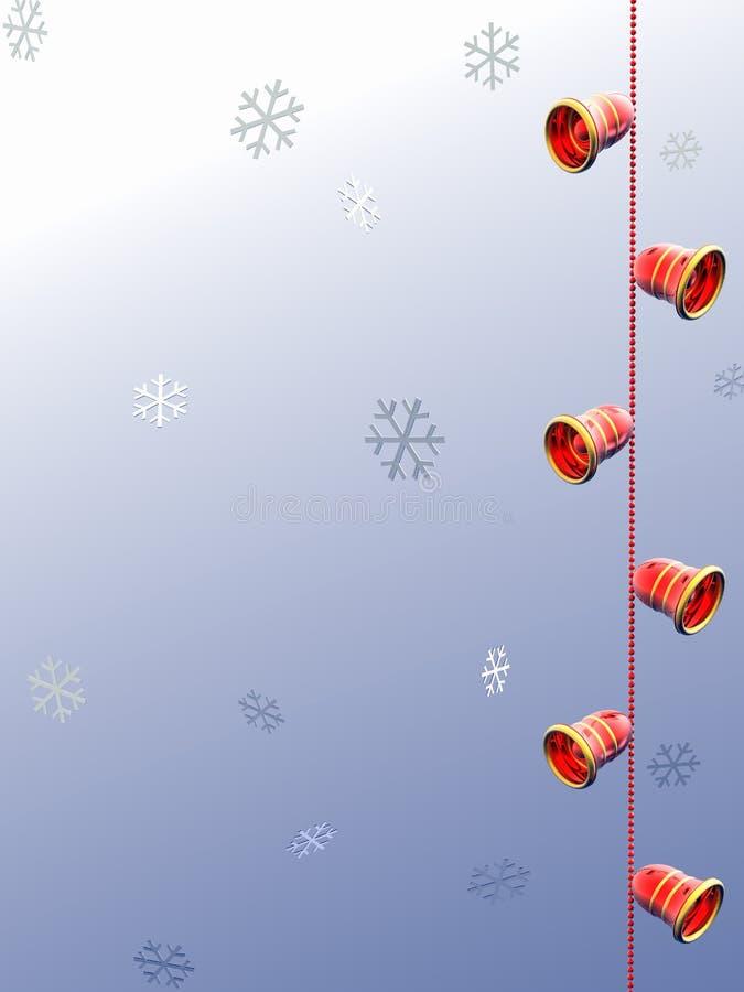 Snow adn Bells 3D. vector illustration