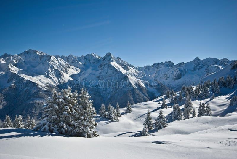 Snow in alps royalty free stock photos