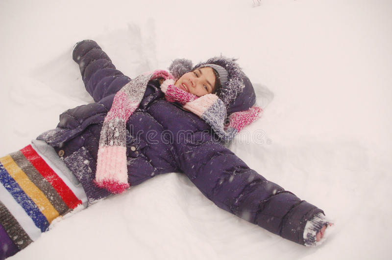 Snow angel royalty free stock image