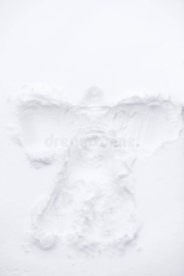 Snow angel. Shape of an angel in the snow royalty free stock images