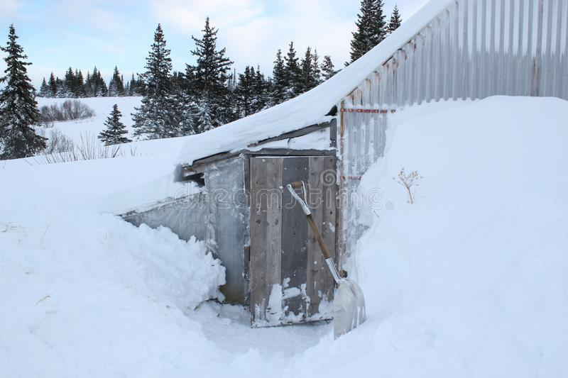 Download Snow Around The Chicken Coop Stock Image - Image: 22796911