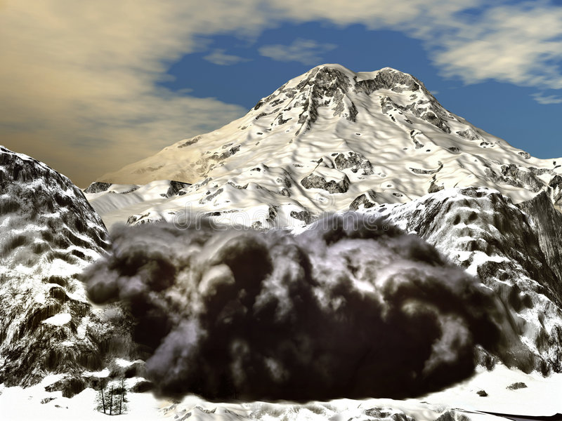 Download Snow avalanche stock illustration. Image of damage, death - 5097998