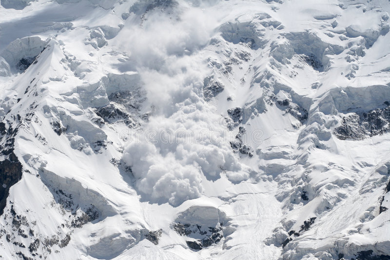 Snow avalanche royalty free stock photography