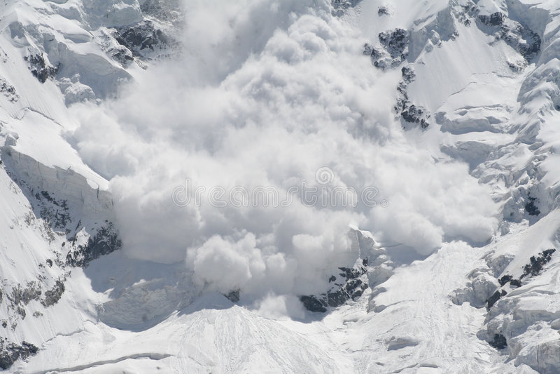 Snow avalanche royalty free stock photo