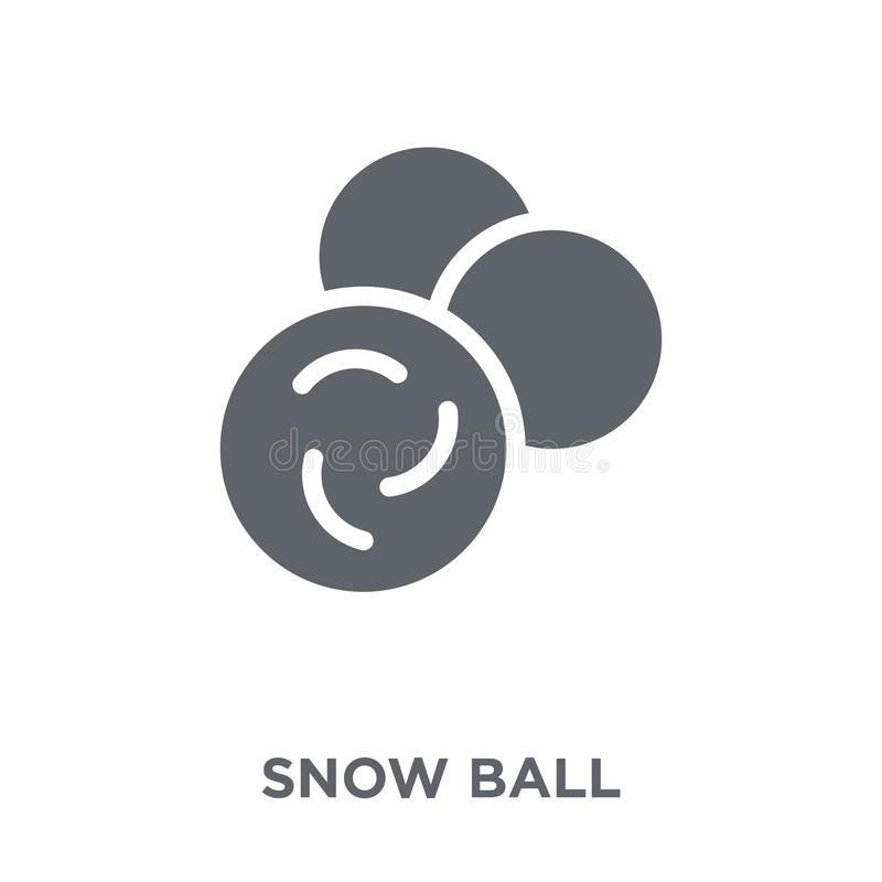 Snow ball icon from Winter collection. Snow ball icon. Snow ball design concept from Winter collection. Simple element vector illustration on white background vector illustration