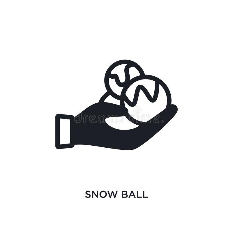 Snow ball isolated icon. simple element illustration from winter concept icons. snow ball editable logo sign symbol design on. White background. can be use for stock illustration