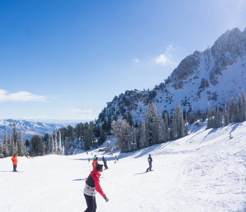 Snow Basin Opening Day royalty free stock photography