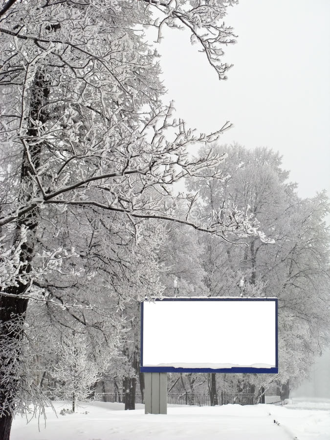 Download Snow Billboard Royalty Free Stock Images - Image: 12771679
