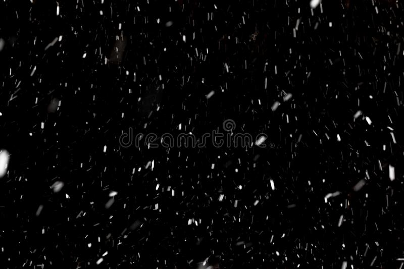 Snow on black background royalty free stock images