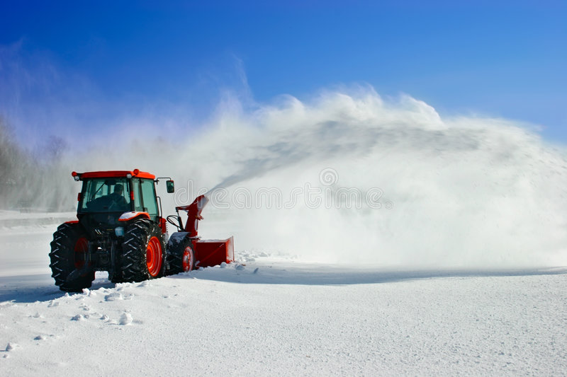 Snow Blower royalty free stock image