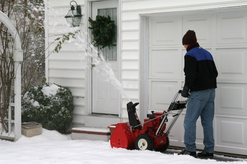 Download Snow Blower stock photo. Image of power, push, wreath, blower - 388750