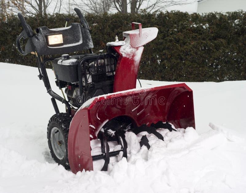Snow blower royalty free stock photos